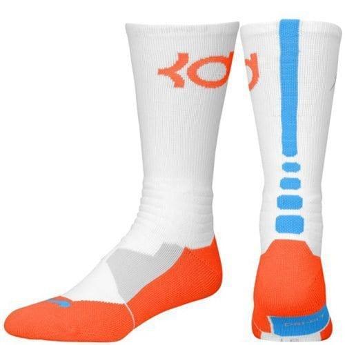 8f3cfa765d4 Nike KD Hyper Elite Basketball Crew Socks (White Team Orange Photo ...