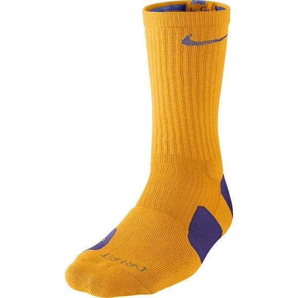 121ac0e2e5a3 Nike Elite Basketball Crew Socks (Yellow Gold Purple)
