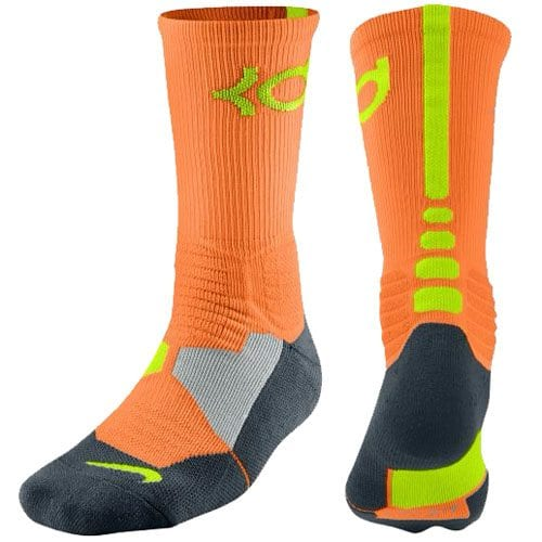 9f739fbea766 Nike KD Hyper Elite Basketball Crew Socks (Total Orange Volt ...