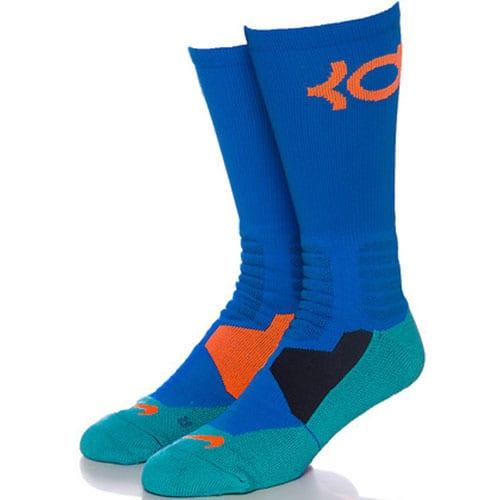 73fd48049c67 Nike KD Hyper Elite Basketball Crew Socks (Light Blue Lacquer Total ...