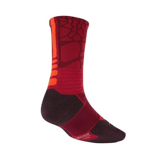 92eca149e8bc Nike Lebron Hyper Elite Basketball Crew Socks (Gym Red Hyper Crimson ...