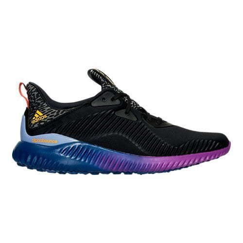 adidas alphabounce black gold purple