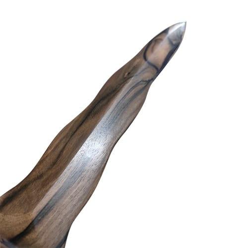 Wooden Kris Kamagong Knife Tip