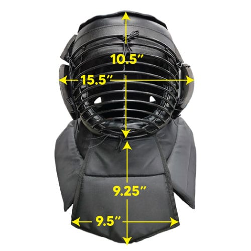 Protective Head Gear Front Dimension