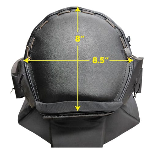 Protective Head Gear Top Dimension