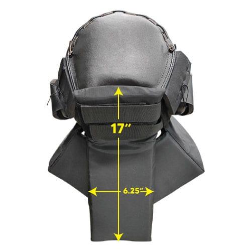 Protective Head Gear Back Dimension